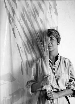 June Harwood   Photo by Douglas Rosa   Abstract   Hard-Edge Artist   Early 1980s   Charitable Trust