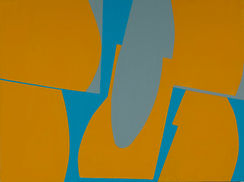 150 Paintings of June Harwood | Abstract Hard-Edge Artist | Untitled | 2010