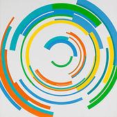 150 Paintings of June Harwood | Abstract Hard-Edge Artist | Loop Series | Untitled | 1965 | 1