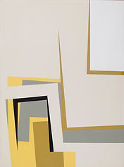 150 Paintings of June Harwood | Abstract Hard-Edge Artist | Silver Series | Untitled | 1960