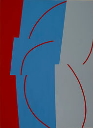 150 Paintings of June Harwood | Abstract Hard-Edge Artist | Untitled | Hopscotch | 2009