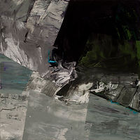 150 Paintings of June Harwood | Abstract Hard-Edge Artist | Migration Series | Green Genesis | 1990