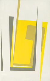 150 Paintings of June Harwood | Abstract Hard-Edge Artist | Silver Series | Untitled | 1960 | 1961