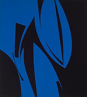 150 Paintings of June Harwood | Abstract Hard-Edge Artist | Jigsaw Series | Untitled | April 1975