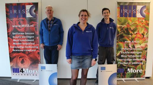Arie van Es, Inkoopmanager Leone de Jong, Hoofdadministratie Kelvin Verwoerd, Service monteur