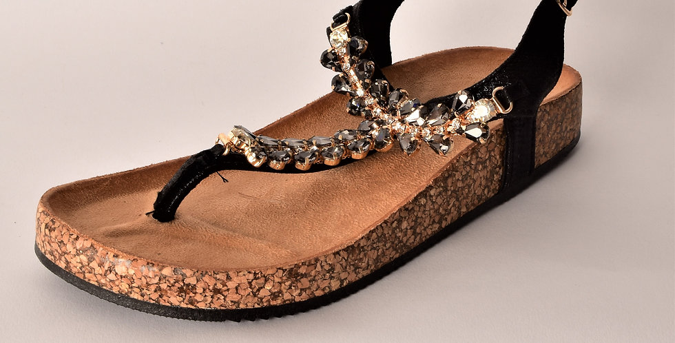 sandalo nero con Strss
