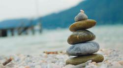 Entspannung mit Steinen