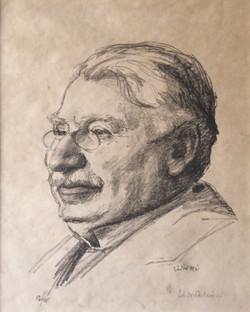 Istvan, Zador: Retrato de Adolf Fenyes, 1921