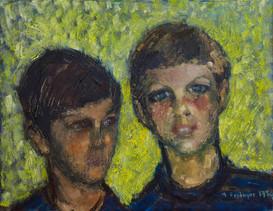 Miguel y Daniel, nietos