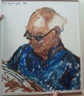 El crítico de arte Sigwald Blum