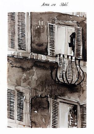 Rome, watercolour, 15x21 cm