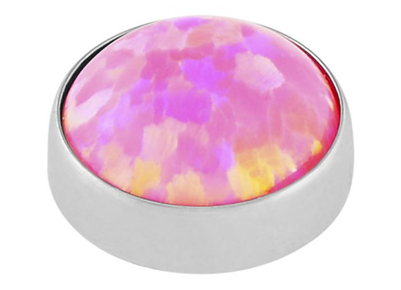 Hot Pink - Faux opal cabochon attachment
