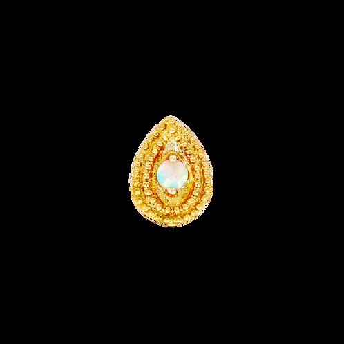 Pear Millgrain - Junipurr Jewellery
