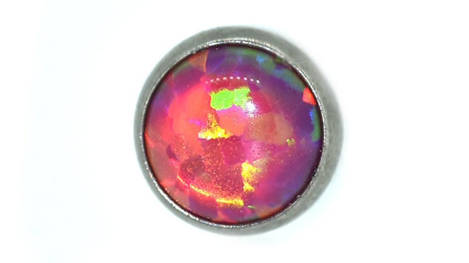 Carmine - opal cabochon attachment