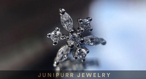 Anna - Snowflake (White Gold)  - Threadless Decorative Atattchment