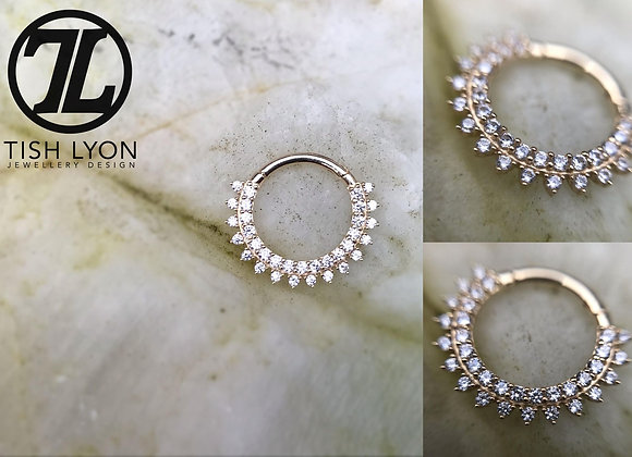 Double Eternity - Pavé Set CZ Clicker - TISH LYON®