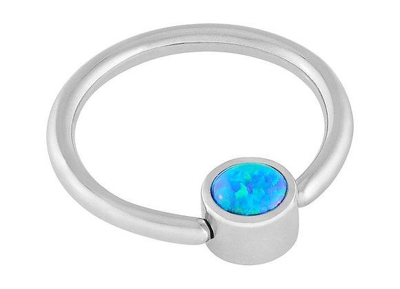 Peacock Blue  - Fauxpal Captive Ring