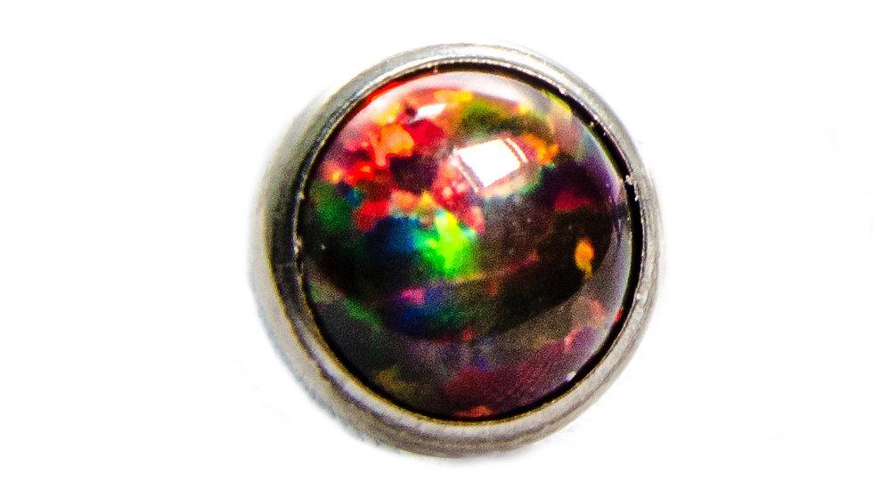 Black Cherry - opal cabochon attachment