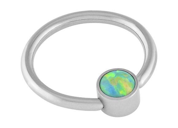 Olive - Fauxpal Captive Ring