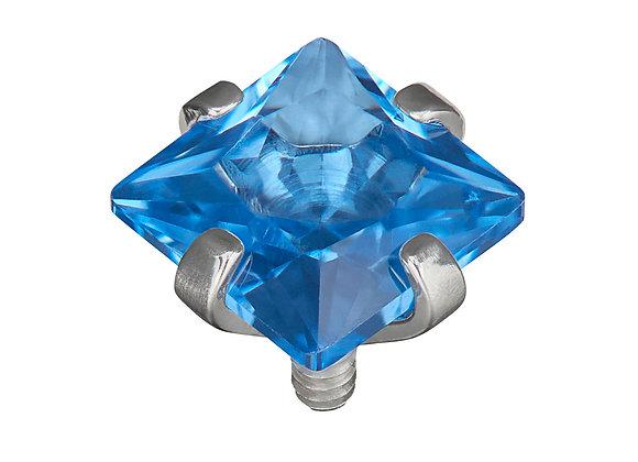 Spinel Blue - Princess cut CZ  attachment