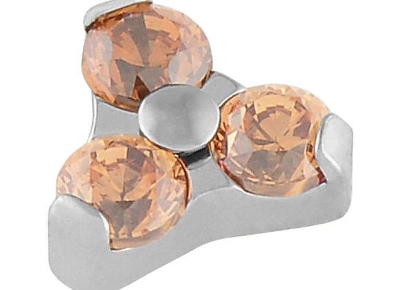 Champagne  - Cubic Zirconia Trinity
