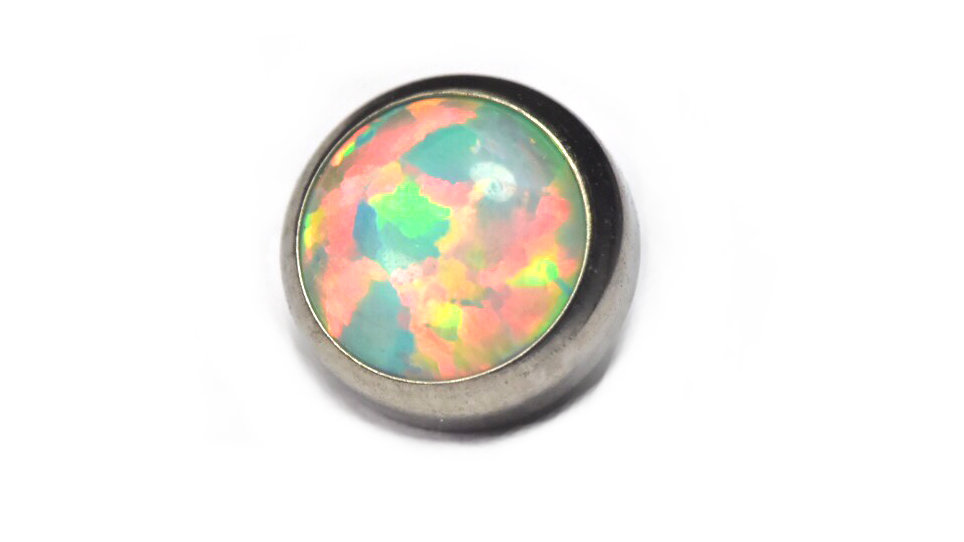 Moon Yellow - opal cabochon attachment