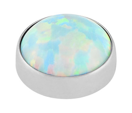 Moon Yellow - Faux opal cabochon attachment