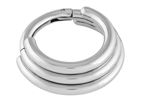 Triple Tier Stacked Hinged Ring