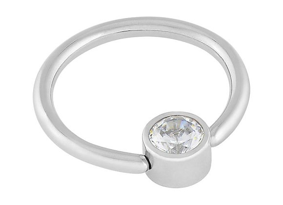 Crystal - CZ Captive Ring