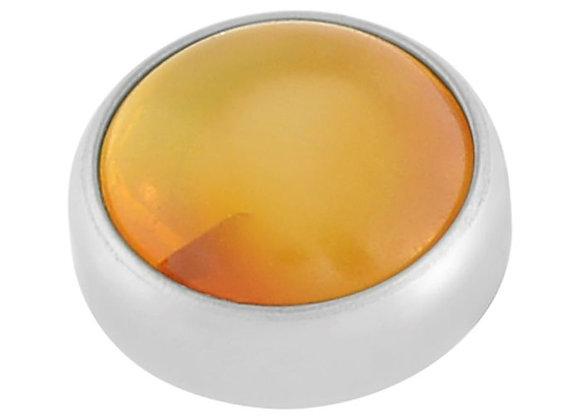 Amber - Natural cabochon attachment