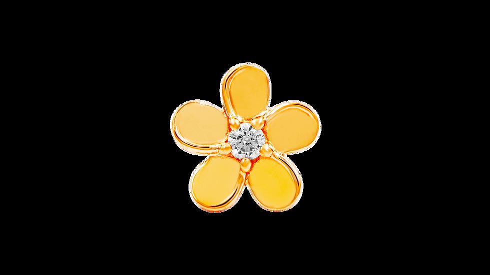 Gold Cz Flower