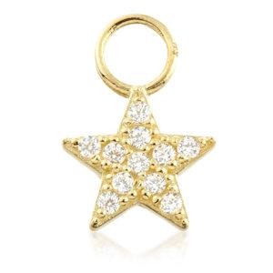 Jewelled Star - Gold Huggie Charm - TISH LYON®