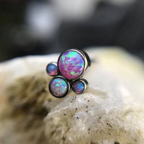 *SALE* Invictus Opal Quad cluster - Bubblegum