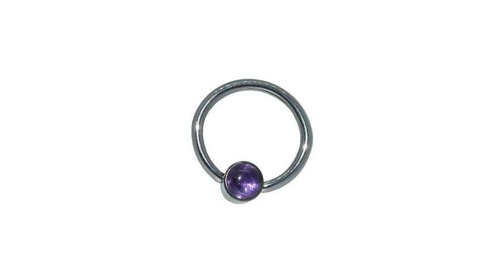 Natural Stone Captive Bead Ring