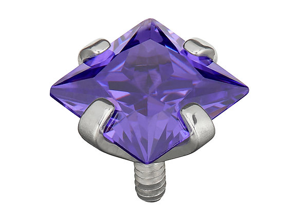 Cadbury Purple - Princess cut CZ  attachment