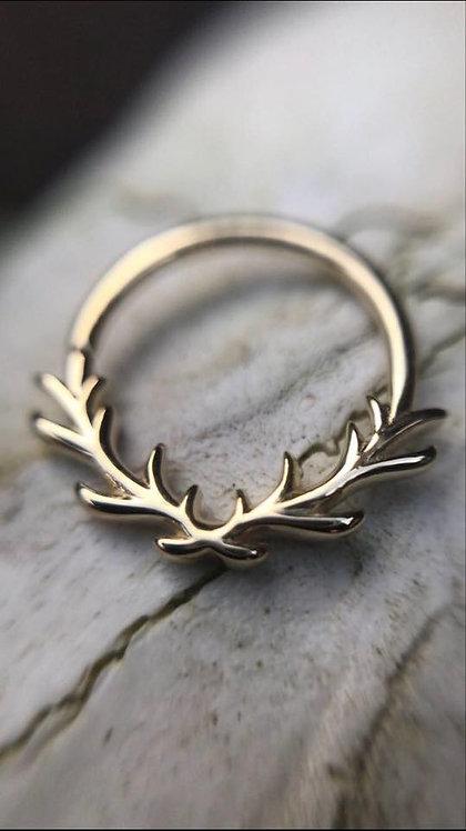 'RAVEN' / Antler Seamless Ring