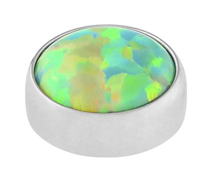Olive Green - Faux opal cabochon attachment