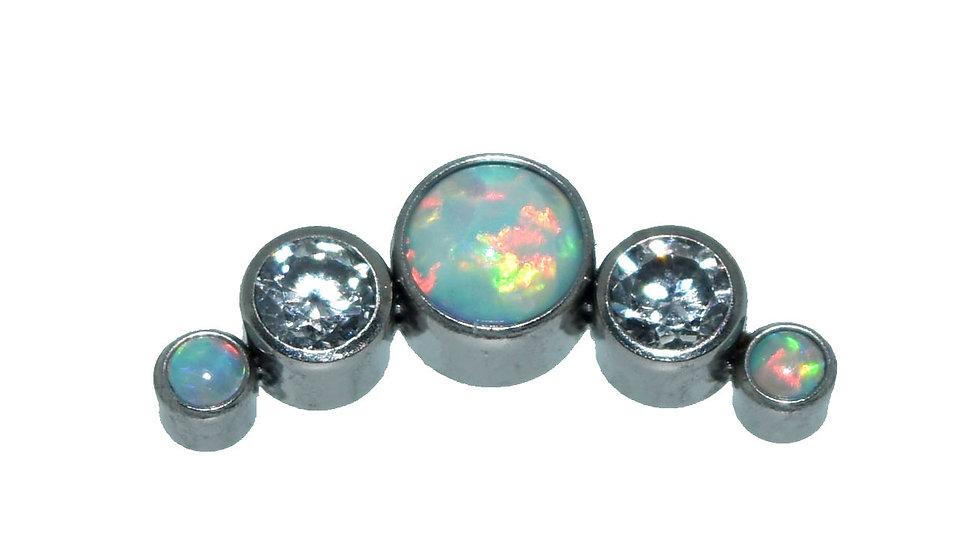 'Wedding Day' Opal & CZ Crystal Cluster