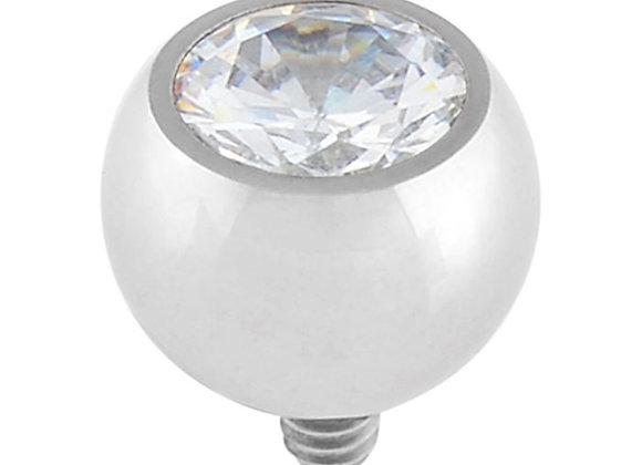 Crystal - Cubic Zirconia Bead