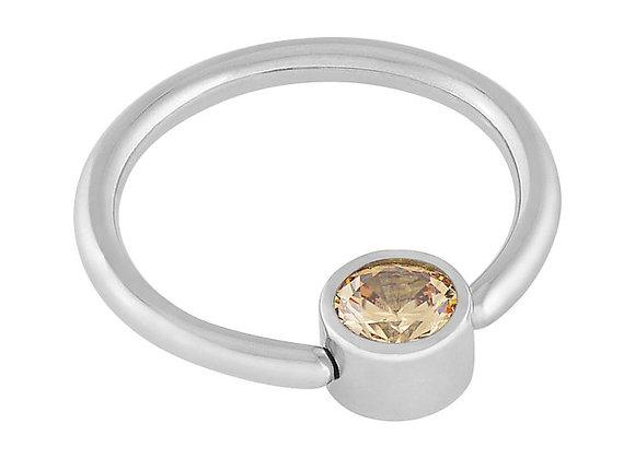 Champagne - CZ Captive Ring