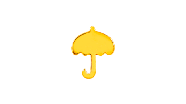 Gold Umbrella (Threadless) Decorative Attatchment