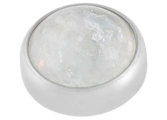 Moonstone - Natural cabochon attachment
