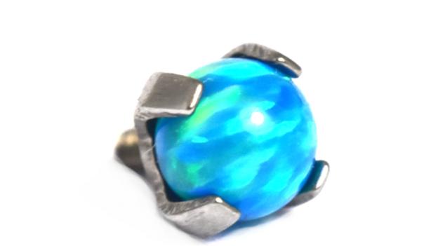 Prong set Opals