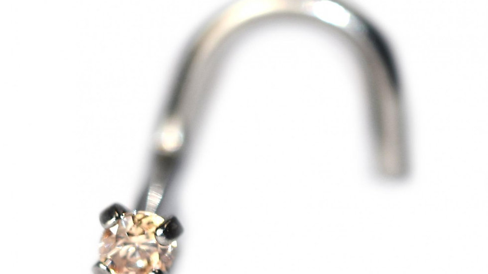 Cubic Zirconia 2.5mm Nostril Screws