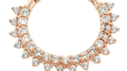 Rose Gold Pave Gem daith ring