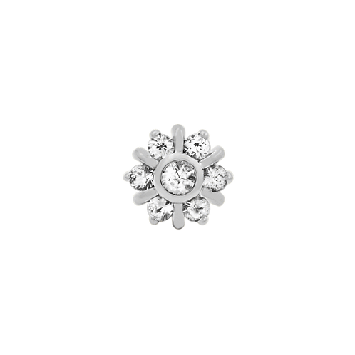 7 Gem Radiant CZ Cluster (Threadless) Decorative Attatchment