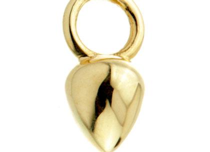 Gold Droplet dangle charm