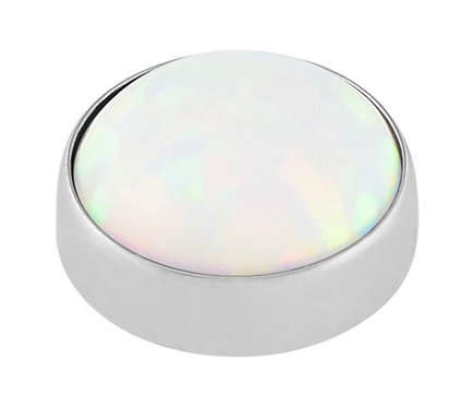 White opal - cabochon attatchment
