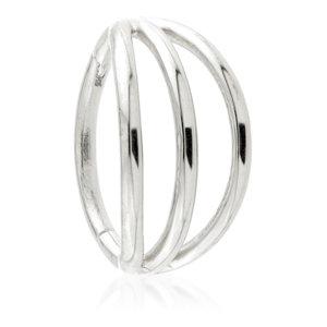 Titanium Triple Band Hinged Segment Ring