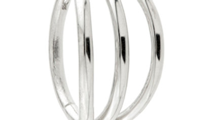 Titanium Triple Band Hinged Segment Ring